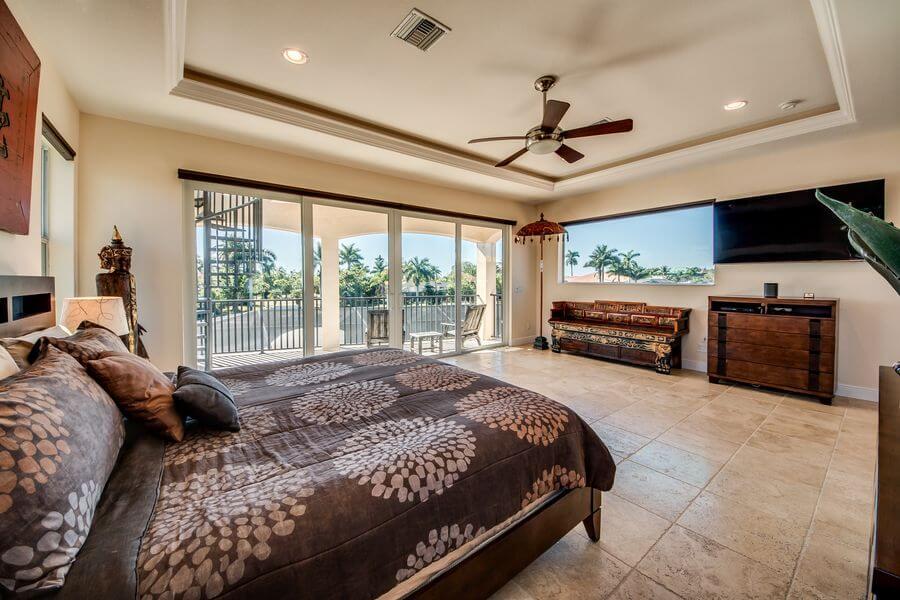 schlafzimmer nummer 3 im Cape Coral Ferienhaus
